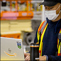 Amazon's Distance Assistant Keeps Workers Aware of Proper Social Spacing | E-Commerce
