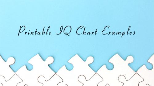 9+ Printable IQ Chart & IQ Score Examples