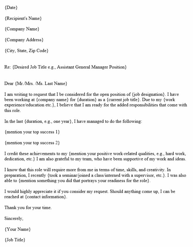 How to Write a Promotion Request Letter (with Template & Example)