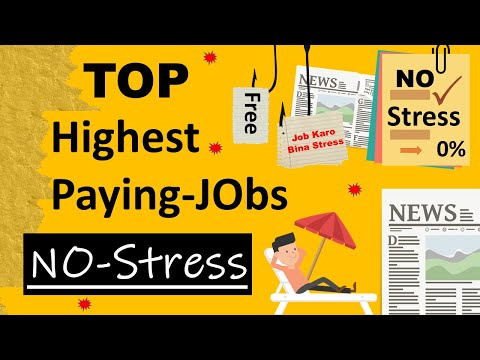 Top highest paying low stress jobs   Top Highest Paying Jobs with no stress in India?