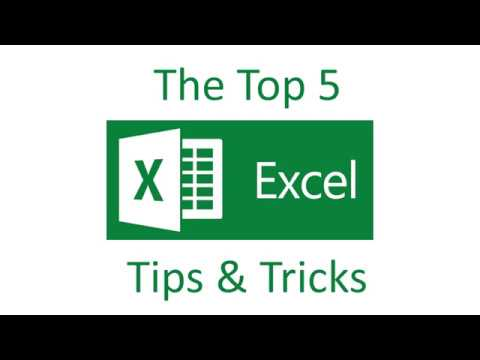 Excel 2016 Beginners – Top 5 Tips & Tricks