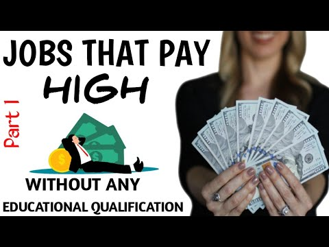 High paying jobs without degree zero investment bussiness entrepreneurship free course
