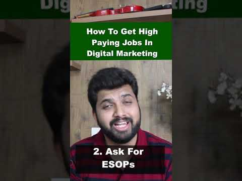 5 Ways To Get High Paying Jobs In Digital Marketing | Digital Marketing Jobs #Shorts