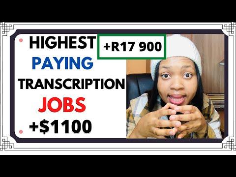 HIGHEST PAYING ONLINE TRANSCRIPTION JOBS