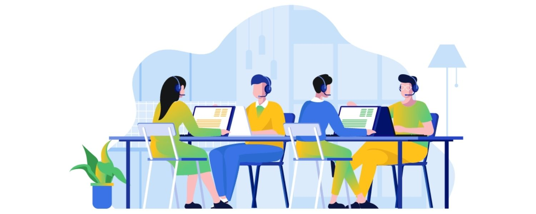 Blog cover for call center stress