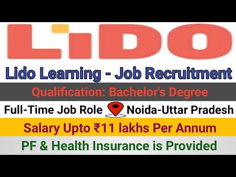 Lido Learning Job Recruitment | Highest Paid Job Role | Freshers | Noida – Career's View