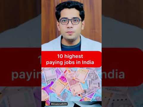 10 highest paying jobs in India #shorts #shivammalik